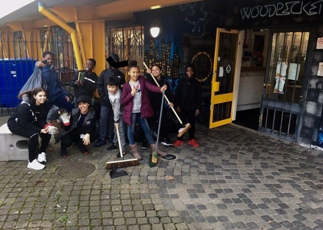 Woodpecker Youth Club Spring Clean