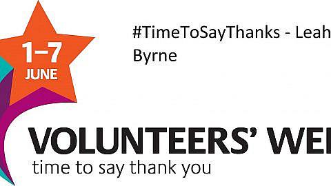 #TimeToSayThanks – Leah Byrne