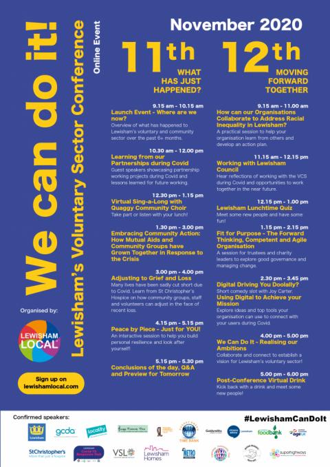 Lewisham's Voluntary Sector Conference 2020   11-12 November