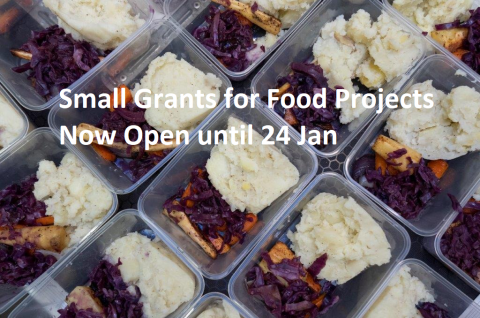 New Small Grants Funding for Food Projects