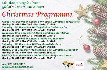 Christmas Programme Flyer